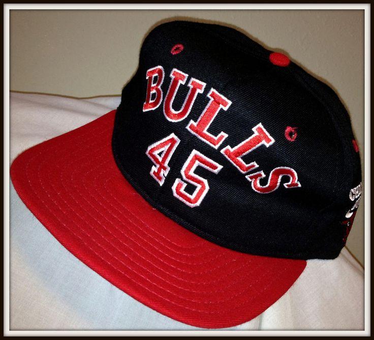 VINTAGE AJD CHICAGO BULLS MICHAEL JORDAN NUMBER 45 SNAP BACK CAP FREE SHIPPING #ajd #ChicagoBulls