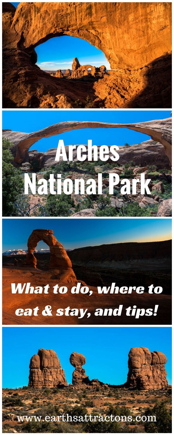 A complete travel guide to Arches National Park (USA) with all you need to know: what to see, where to stay, where to eat, and tips. Travel in the USA.