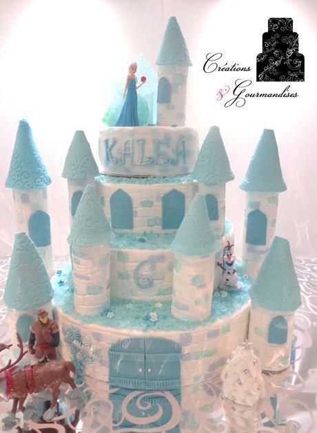 Ch teau reine des neiges en p te sucre fondant frozen for Chateau la reine des neiges