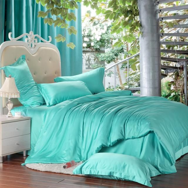 Best Beds For Me Images On Pinterest Comforter Sets Queen - Blue solid color king size comforter