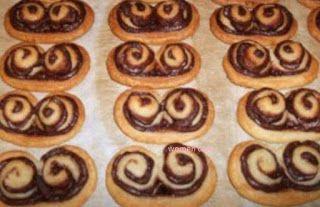 Μπισκότα palmier με nutella!