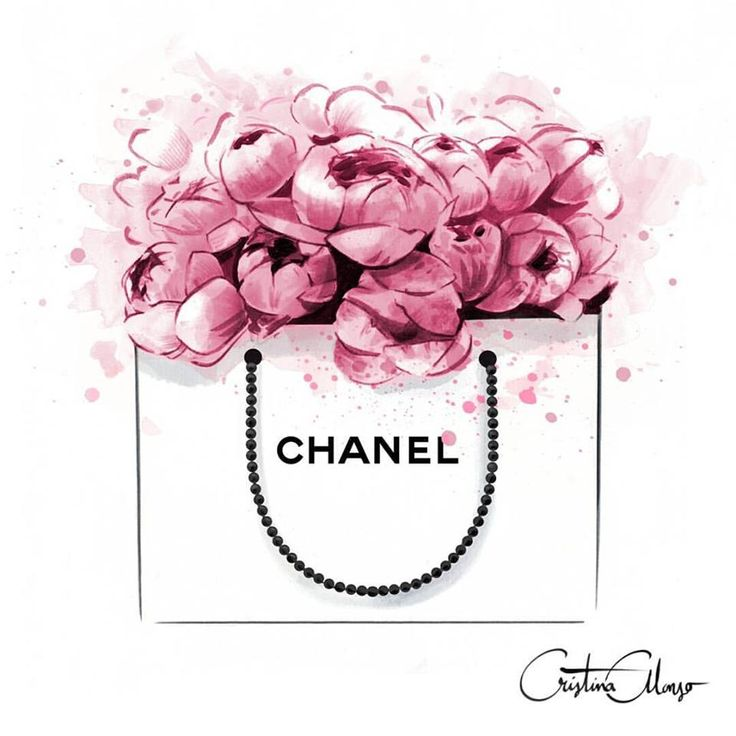 Watercolor chanel-inspired art. Photo from: Monica Oliveira