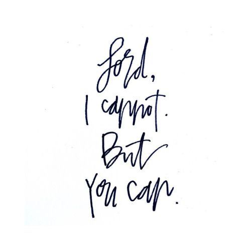Lord, I cannot. But you can.