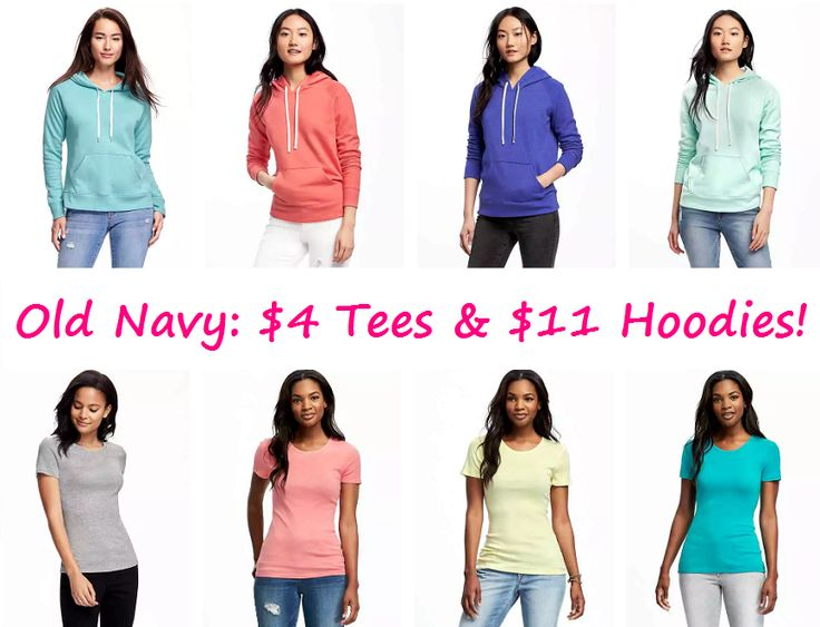 Wear It For Less: Old Navy: Tee & Hoodie Sale - Prices Start at $4 and $11!