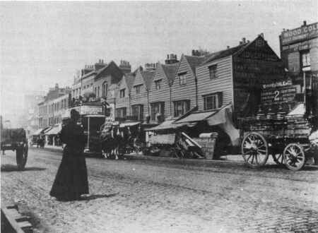 Mile End Road..this is where Stepney Green Station stands now