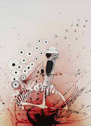 Ralph Steadman -- Overdrive -- Hunter S. Thompson -- Ralph Steadman Art Collection