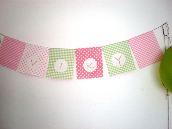 Cartel con nombre de la agasajada  by Dulcinea de la fuente www.facebook.com/dulcinea.delafuente  #fiesta #festejo #cumpleaños #mesadulce#fuentedechocolate #agasajo# #candybar  #tamatización #personalizado #souvenir  #regalos personalizados #catering finger food