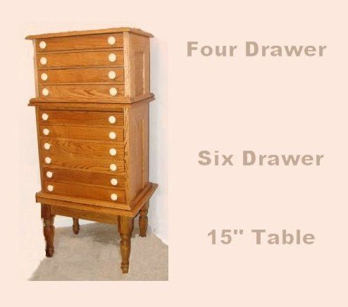 Sewing Thread Cabinet And Four 4 Drawer Embroidery