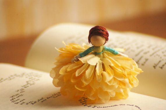 Fairy Doll - miniature fairy doll, flower fairy doll, fairy decor, waldorf fairy doll, small fairy doll, faeries, waldorf miniatures,