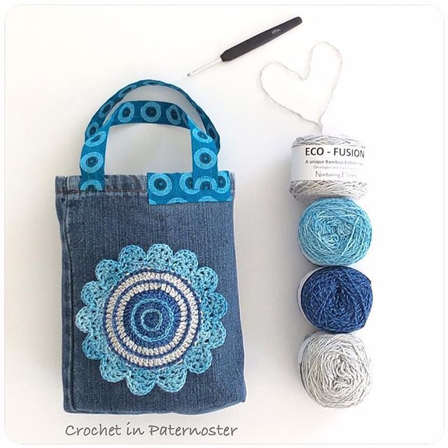 From my Facebook memories this morning. Definitely want to make some of these Jean Leg Baskets again. And the softness of the eco-fusion (cotton and bamboo blend) from @nurturingfibres , is ideal to pretty up these bags.