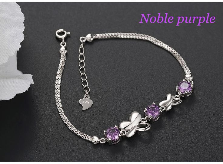 gemstone bracelets noble purple color