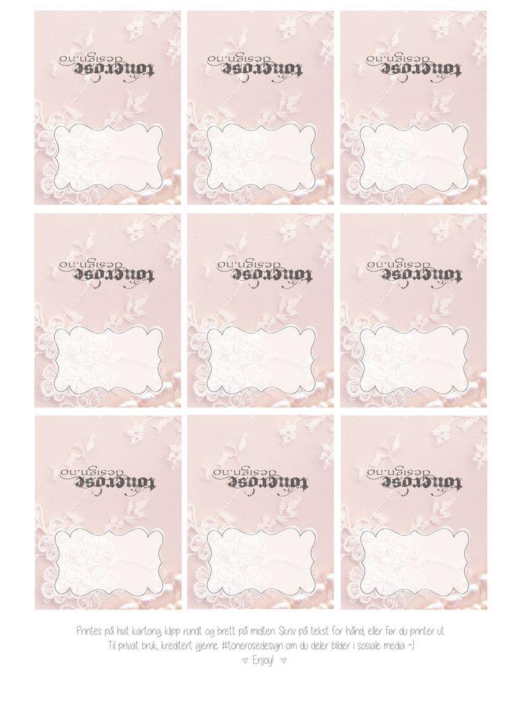Gammelrosa - Free printable lace - Gratis print vakre blonde etiketter bryllup barnedåp