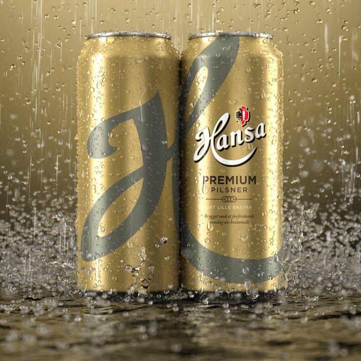 3D, advertising, beer cans, beverages, depth of field, dof, drinks, drops, hansa, packaging, rain, splash, water