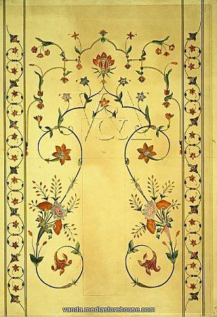 inlaid stonework in the Taj Mahal