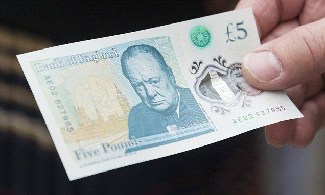New plastic Winston Churchill £5 note comes into circulation this week…