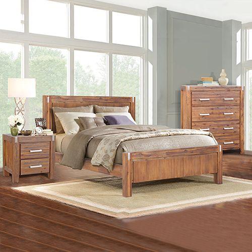 Matrix Brushed Walnut Bedroom Suite