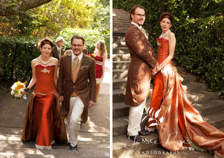 Dale & Christopher @ Jessie Rose Photography, autumn, wedding, bride, groom, love, diy, silk, orange