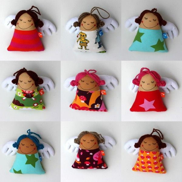 Handmade fabric decoration or toy by švambi, various Lillestoff jersey