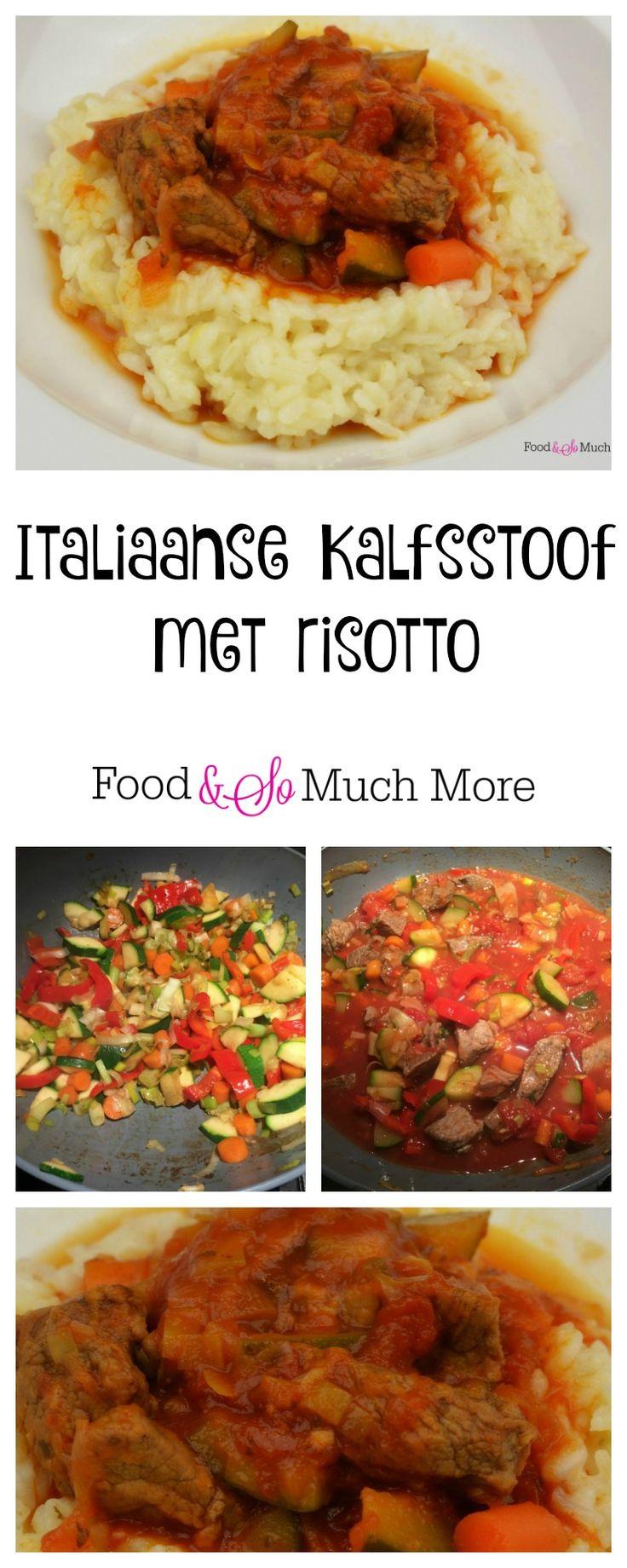 Italiaanse kalfsstoof met risotto. Recept van foodensomuchmore.nl