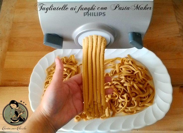 Tagliatelle ai funghi con PastaMaker