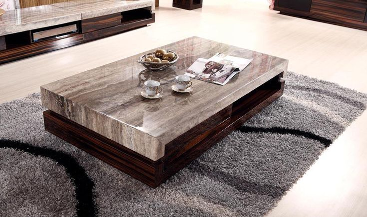 Smal living room marble coffee table