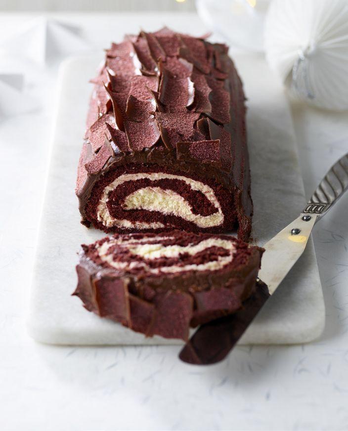 Extra Special Red Velvet Yule Log
