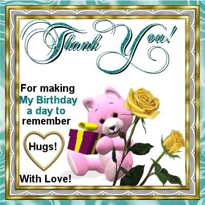 All wishes  message, wishes card, Greeting card, : Birthday Thank You Card for wisher