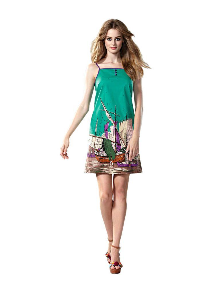 Leona Edmiston Ginger Dress-Venetian Boat