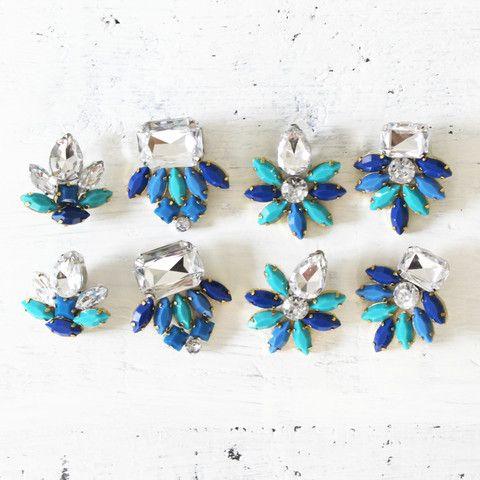 Rhinestone Earring Making Kit (Blue)