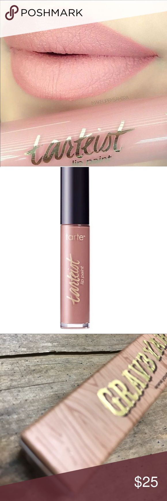 TARTE Texas toast lip paint Details- Tarteist Creamy Matte Lip Paint is a full coverage, vegan liquid lipstick that provides a bold, matte look with a weightless, velvet texture and vibrant, non-drying mineral pigments.  What the product does: Provides a bold, matte look with a weightless, whipped texture and super-concentrated, non-drying mineral pigments~New inbox 6 ML tarte Makeup Lipstick