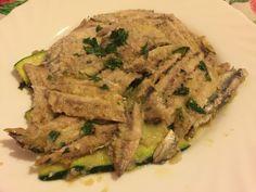 Alici e zucchine in piattella