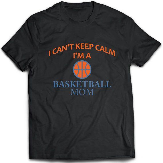 Basketbal moeder T-Shirt. Basketbal moeder tee van TeeDino op Etsy