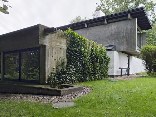 The newly restored 1958 home of architect Knud Friis of Friis & Moltke. Brabrand, Aarhus, Denmark
