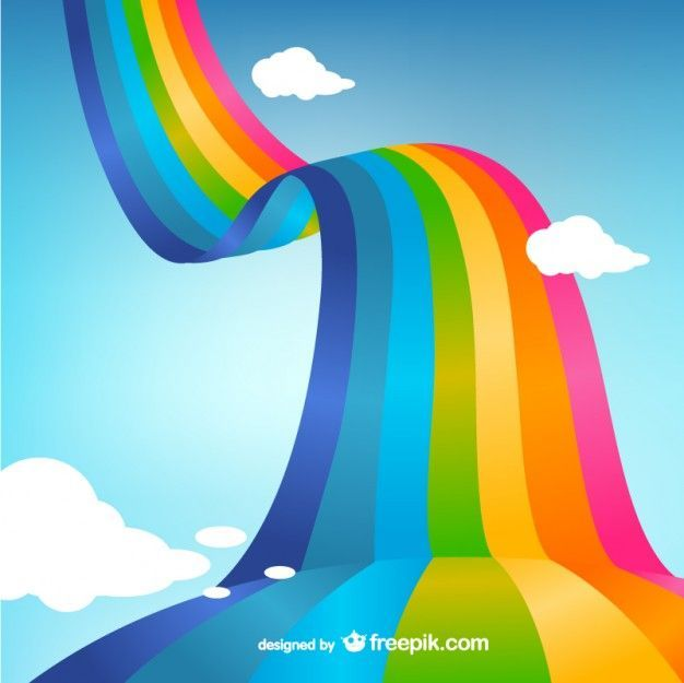 Download Rainbow In The Clouds For Free Rainbow Background