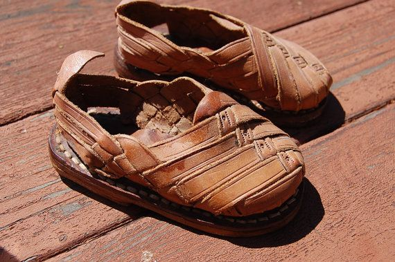 Baby Vintage 1970 S Mexican Huaraches Sandals Childs By
