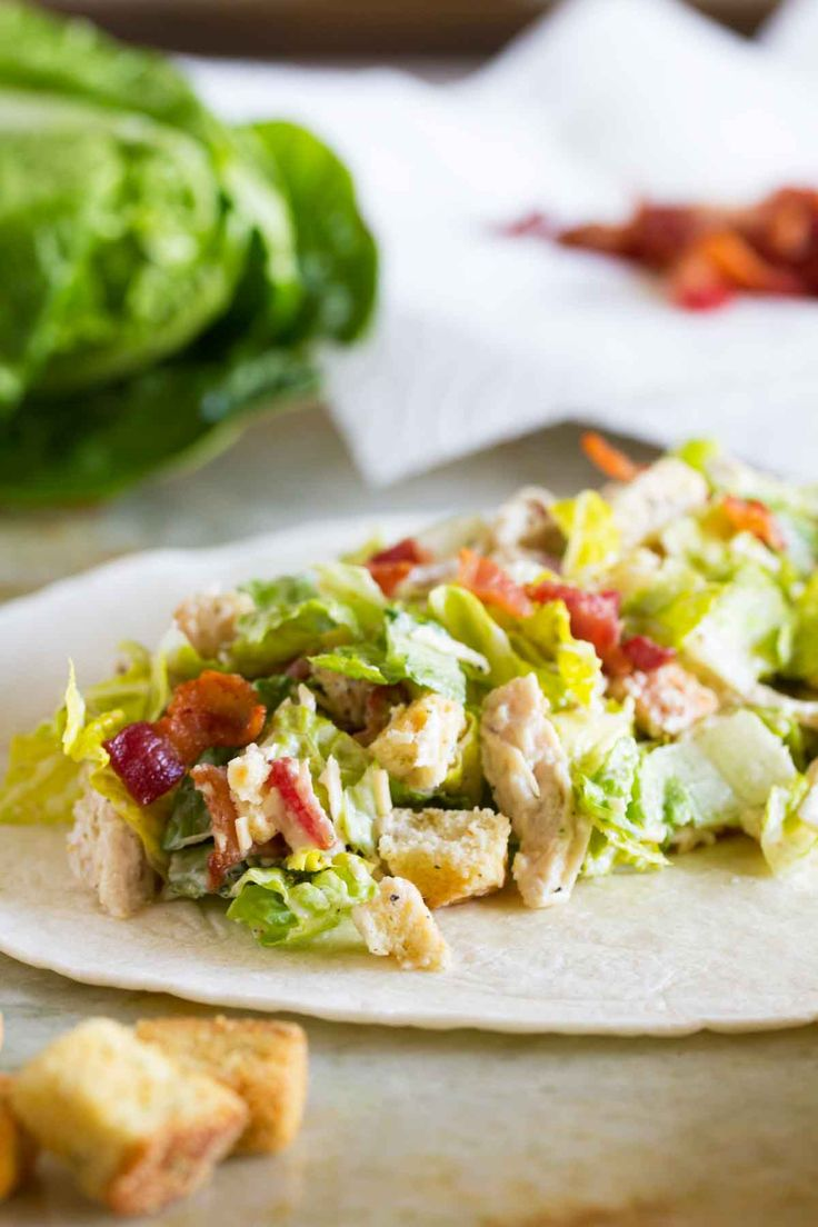 Lunch doesn't get much easier than this Chicken Caesar Wrap. Full of flavor, this wrap comes together easily with pre-cooked shredded chicken.