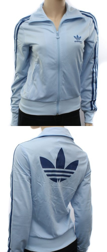Adidas Originals Womens Firebird Blue Zip Track Top - Track \u0026 Active Jackets  - Apparel -