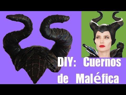 ▶ Cómo hacer los cuernos del disfraz de Maléfica. DIY - YouTube