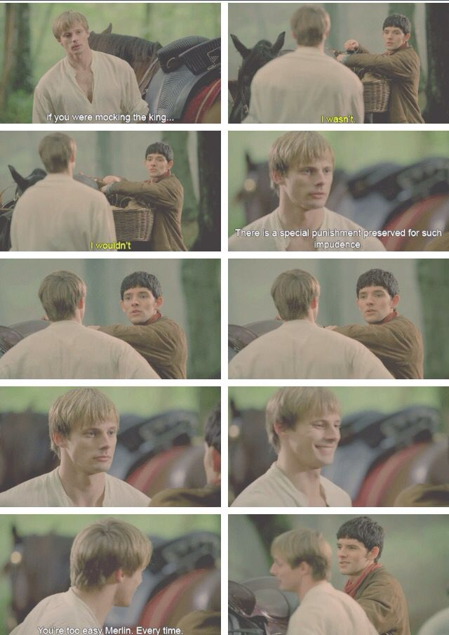 Arthur and Merlin. Merlin Season 5