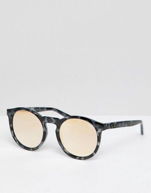 d85d15d74d8 Quay Australia Kosha Comeback round sunglasses in tort   gold
