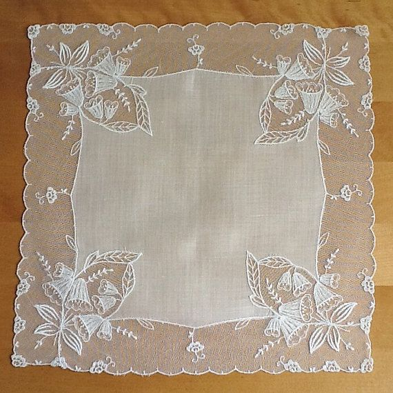 Pañuelo de encaje pañuelo de boda tambor del cordón
