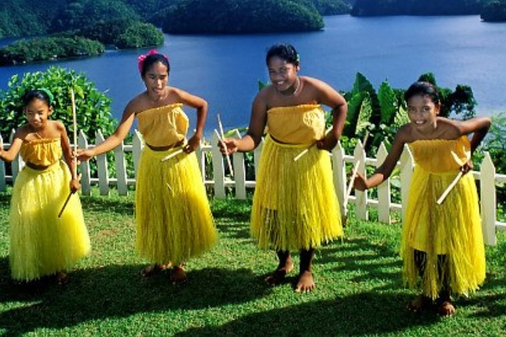 Yap Day Traditional Children's Sitting Dance, in Palau ... |Traditional Clothing Palau