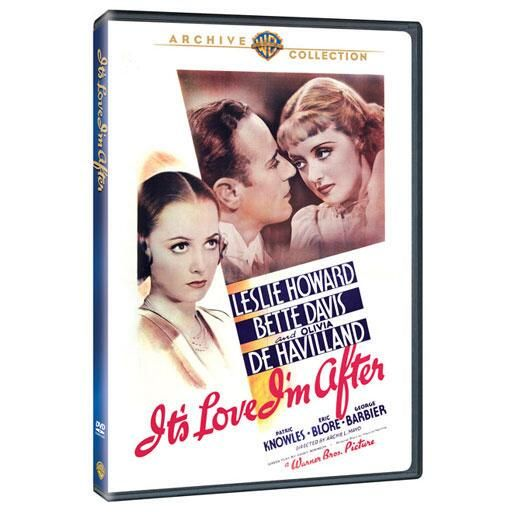"""It's Love I'm After (Mod) from Warner Bros.: """"Star-struck Marcia (Olivia de Havilland) could care less that famed… #Movies #Films #DVD Video"""
