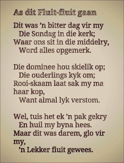 A.G Visser...As dit fluit-fluit gaan.. #Afrikaans #poësie #Afrikana