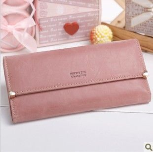 FREE SHIPPING high quality Zipper Leather Purse ladies clutch wallet pouch/clutch for women 8 colors #6038 $10.89