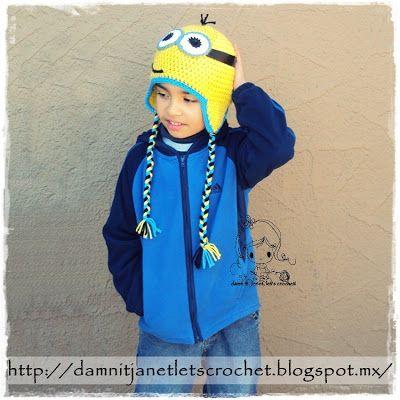 damn it Janet, let's crochet!: Minion Earflap Beanie
