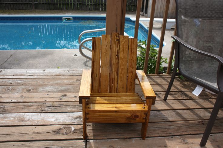 Adirondack chair for baby Logan!  Another re-purposed wood project.