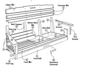 Free Swing Plans - Porch or Lawn - Woodwork City Free Woodworking ...