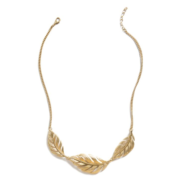 that it give necklace Collar j Necklace  interest  Triple the Feather leaves but crew simple  is it Love frost lulu Kristal