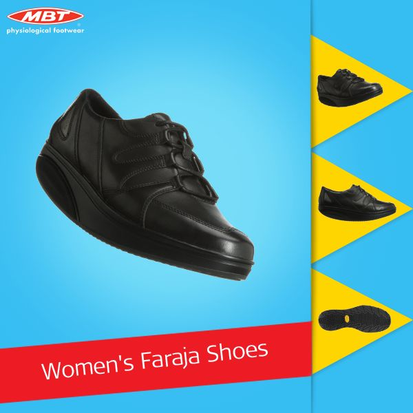 MBT Women's Faraja Black Shoe